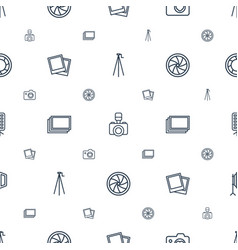 photography icons pattern seamless white vector image