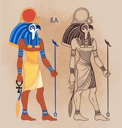 portrait ra egyptian god sun most vector image