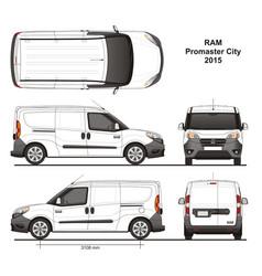 Ram promaster city cargo delivery van 2015 vector