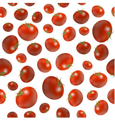 red ripe tomato seamless pattern isolated on white vector image