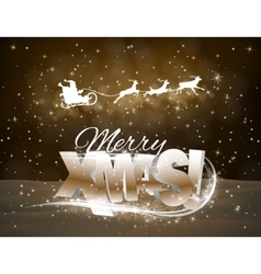 reindeer and Santa Claus on yellow vector image vector image