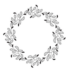 round flourish vintage decorative whorls frame vector image