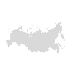 russia map country flat silhouette border vector image