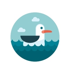 Seagull flat icon vector