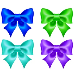 Set of colored bows vector