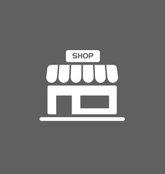 shop icon on a dark background vector image