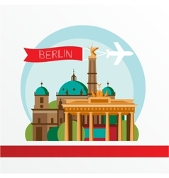 silhouette berlin germany city skyline vector image