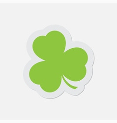 Simple green icon - shamrock vector