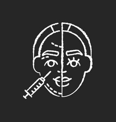 Skin injections chalk white icon on black vector