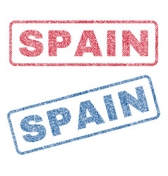 spain textile stamps vector image