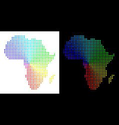 Spectrum dotted africa map vector