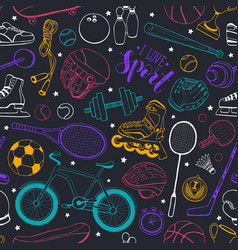 Sport seamless pattern vector