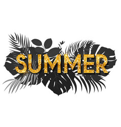 summer word on natural background social media vector image