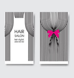 template business card with long hair vector image