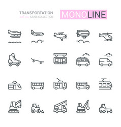Transportation icons side view part iv vector