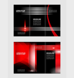 Tri-fold brochure and catalog design templa vector