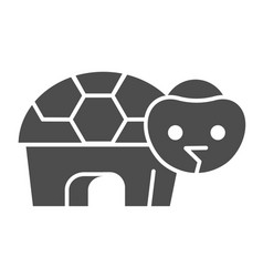 Turtle solid icon simple silhouette standing vector