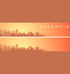 Valencia beautiful skyline scenery banner vector
