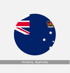 Victoria australia round circle flag vector