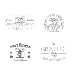 Vintage Photography studio Badges Labels vector image