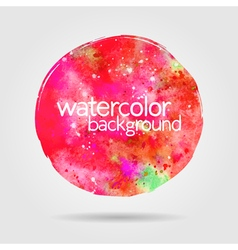 Watercolor background hand-drawn round stain vector