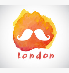 watercolor icon symbol london great britain vector image