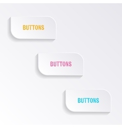 White blank progress buttons vector