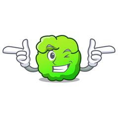 Wink shrub character cartoon style vector