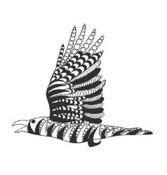 Zentangle stylized raven vector image