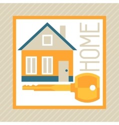 concept of mortgage in flat design style vector image vector image