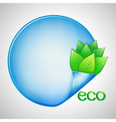 Eco background with green leaves and paper vector image
