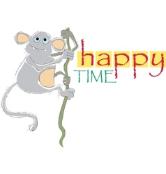 happy time vector image vector image