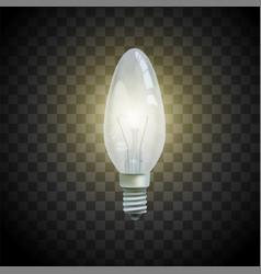 light bulb on transparent background image vector image