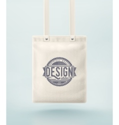 Tote Bag vector image vector image