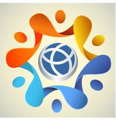 world sign logo poster vector image