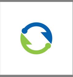 circle arrow infinity logo vector image vector image