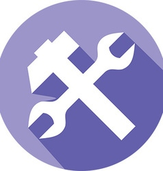 Hammer Wrench Icon vector image