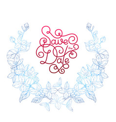 holiday gift card with hand lettering save the vector image