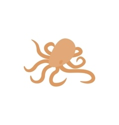 Octopus icon isometric 3d style vector image