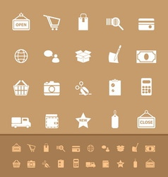 Set of shopping color icons vector image