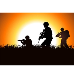 Soldier On Field vector image vector image