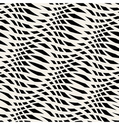 abstract monochrome seamless pattern crossed vawes vector image