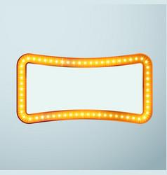 bright glittering retro cinema bulb frame sign vector image