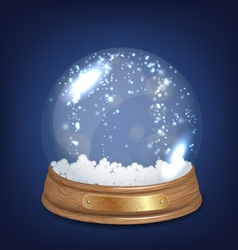 Empty Snowglobe vector image