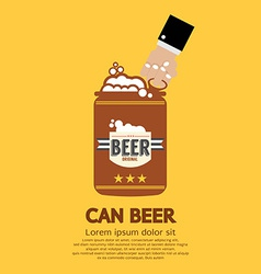 Canned Beer Graphic vector image vector image