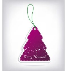 christmas tree shaped invitations with bow vector image vector image