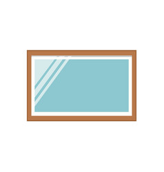 mirror frame interior icon vector image