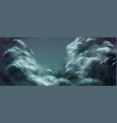 nightly clouds vector image vector image