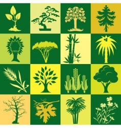 plants bg vector image vector image