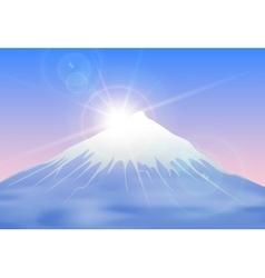 Sunrise mountain landscape vector image